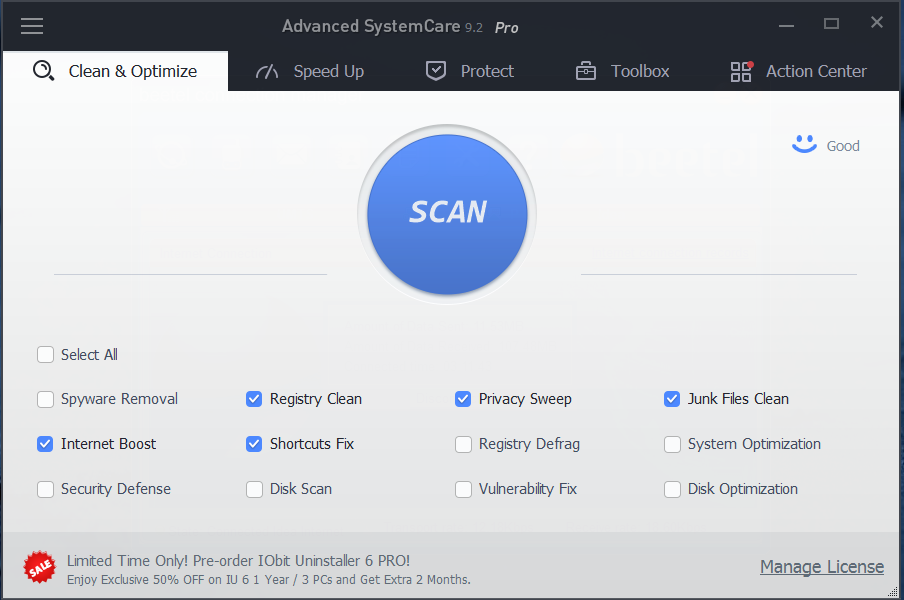 Advanced SystemCare Vs CCleaner: Interface