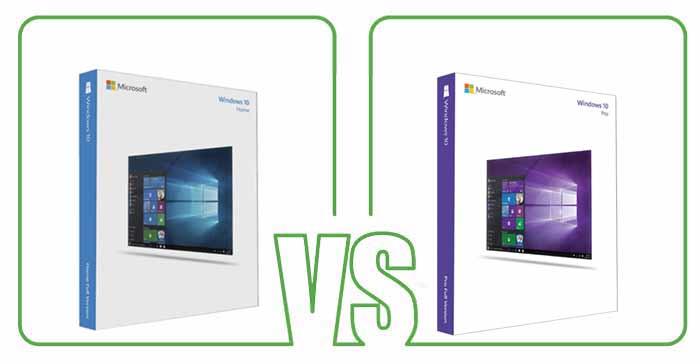 windows 10 home vs pro image