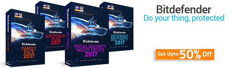 BItdefender 2017 Discount Coupons
