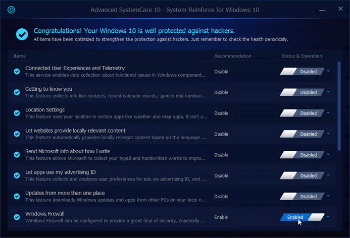 advanced systemcare 10 Pro Review protect windows