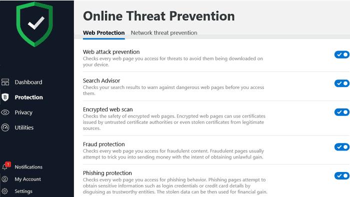 Bitdefender Online Threat Prevention