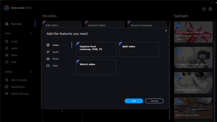 Movavi Video Suite 2020 interface customization